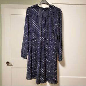 H&M Navy & White Polka Dot Dress 8
